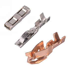 copper connector auto general type Precision Stamping Gold-plated irregular brass electrical terminals