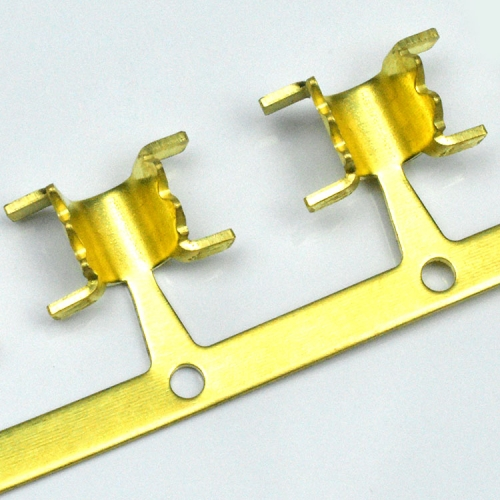 DJ454 high quality thick harness U shape joint reel type brass crimp loose and continuous automotive terminals