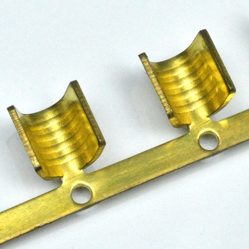 high quality long length u shape splice wire connectors joint reel type brass KET crimp brass terminal
